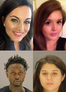 La dentista de Dallas Kendra Hatcher (a la izquierda) fue asesinada en un edificio de Uptown. La policía cree que Brenda Delgado (arriba derecha) ordenó el ataque por celos. Kristopher Love (abajo a la izquierda) está acusado de disparar, y Crystal Cortes (abajo a la derecha) confesó manejar el vehículo que siguió a la dentista.