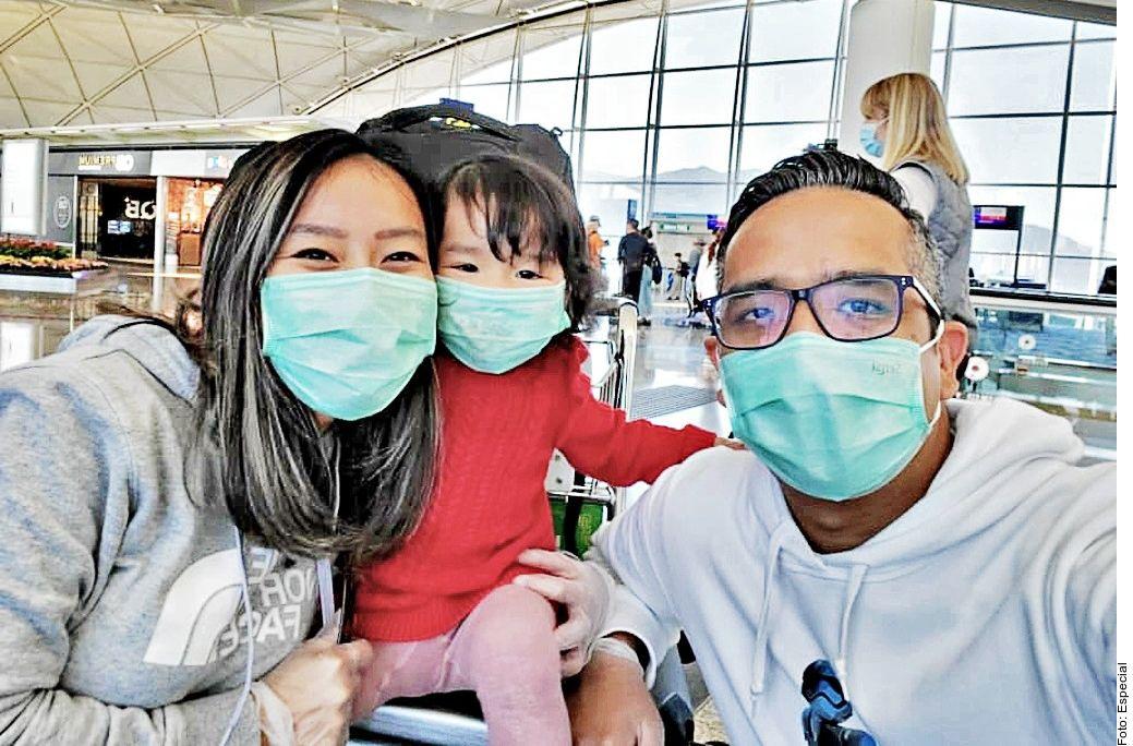 El regio Jesús Campos se considera afortunado: él y su familia lograron salir de China tras el brote del nuevo coronavirus.