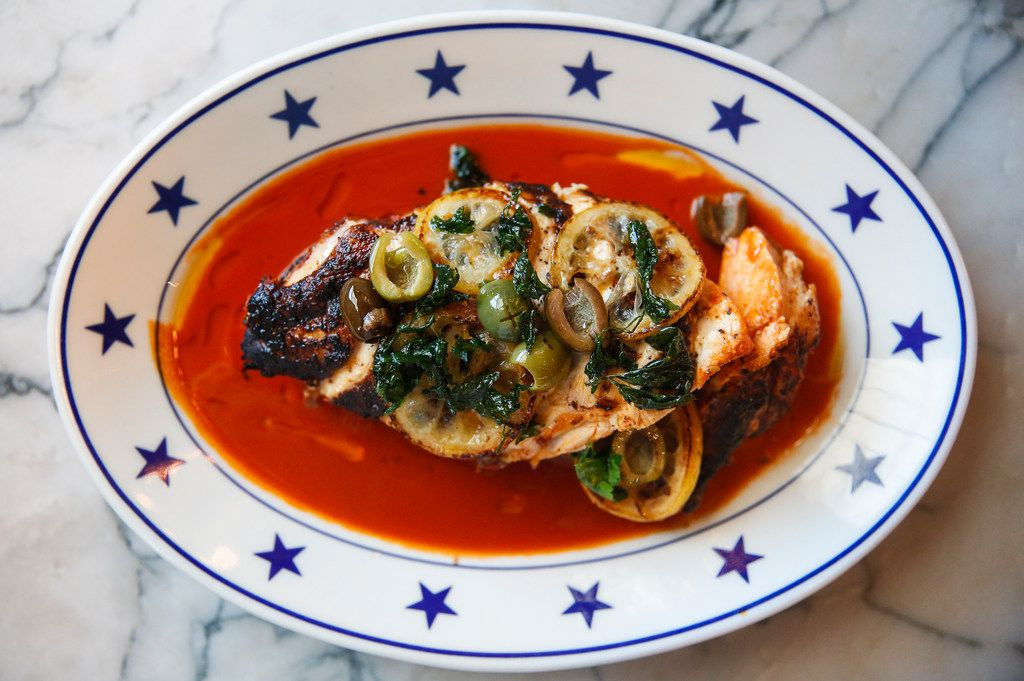 Chicken Diavolo is pictured at The Charles on Friday, Aug. 9, 2019 in Dallas. (Ryan Michalesko/The Dallas Morning News)