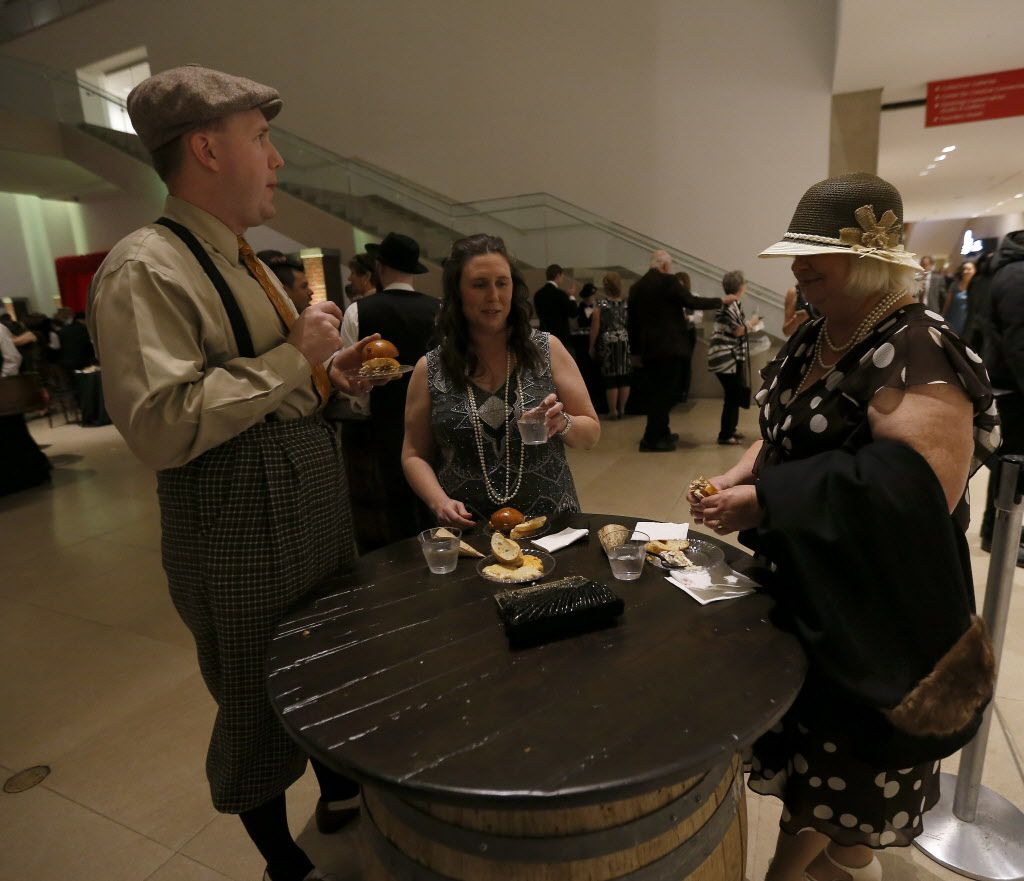 From left, Arlen and Trish Evans and Carolyn Weiss attend the DMA Speakeasy event in celebration of Shaken Stirred Styled: The Art of the Cocktail at Dallas Museum of Art in Dallas, Saturday, Feb. 4, 2017.