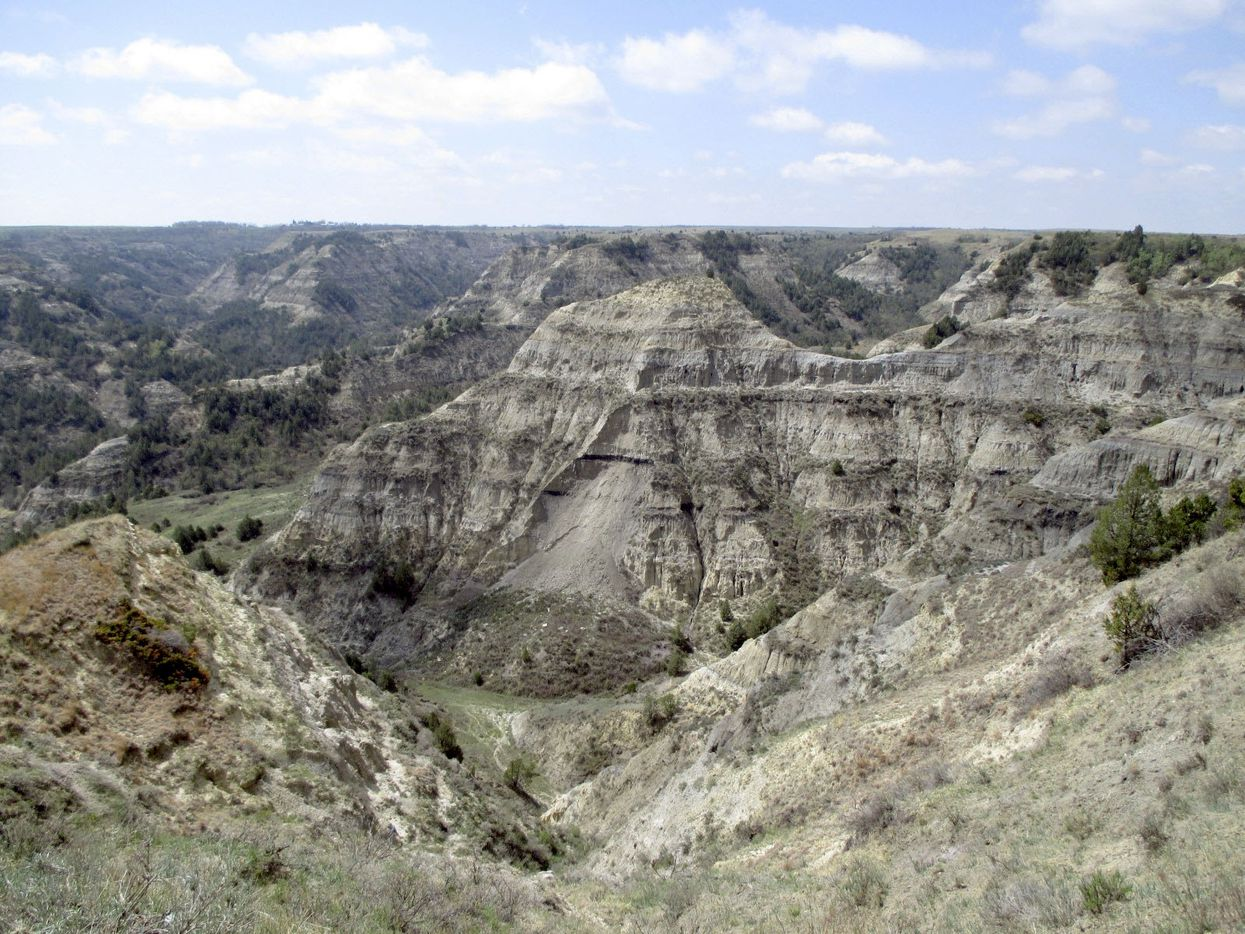 The Badlands of North Dakota, seen at Theodore Roosevelt National Park.