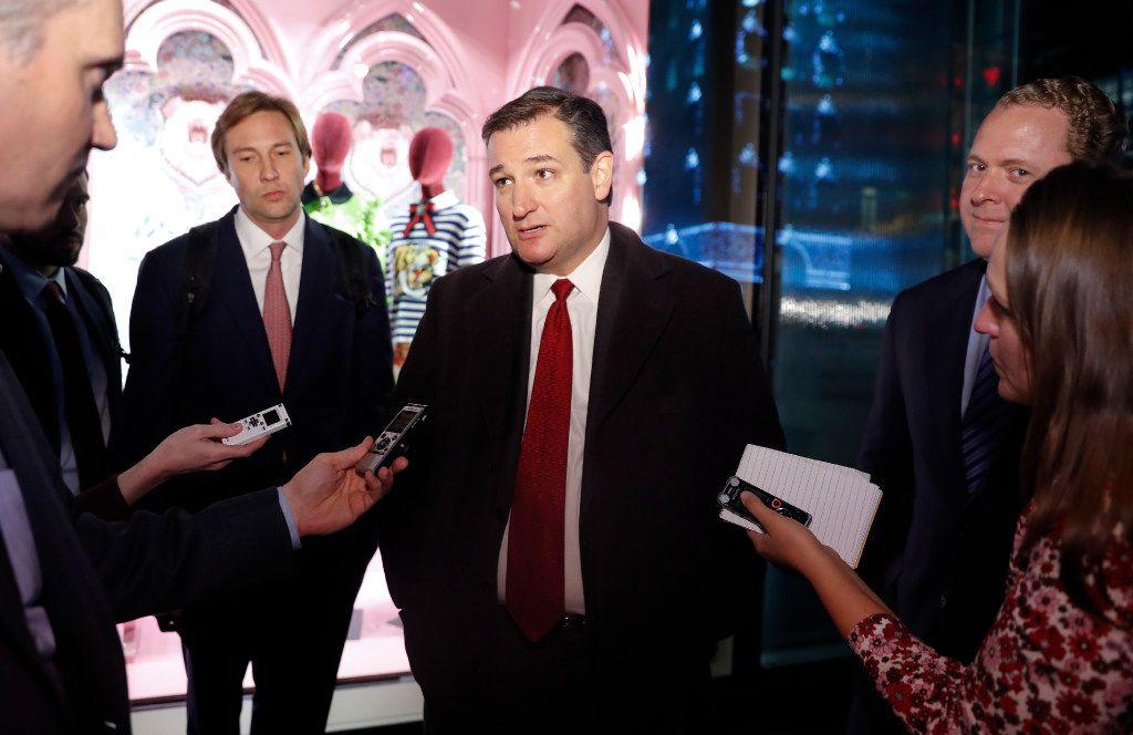 Sen. Ted Cruz, R-Texas, visited Trump Tower last week to meet with President-elect Donald Trump. (Carolyn Kaster/The Associated Press)