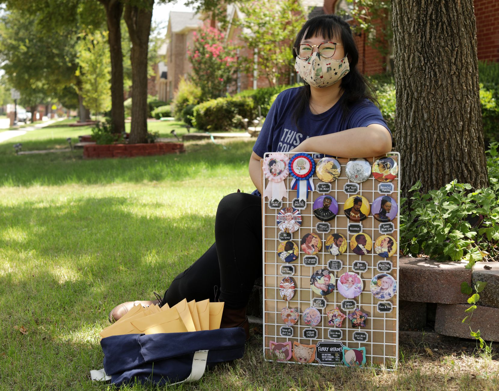 Artist Susan Bin says her business selling keychains, drawings, pins, pillows, magnets and stickers on Etsy has boomed during the pandemic.