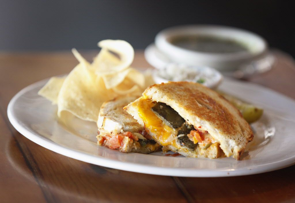 The grilled cheese with green chiles at All Good