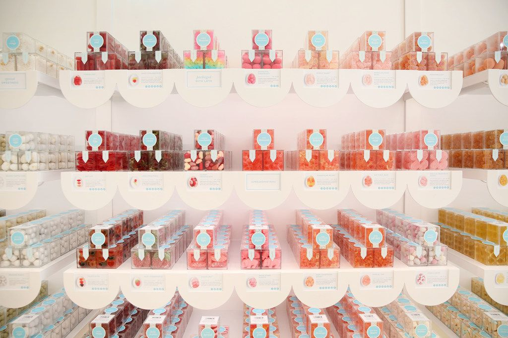 Interior of Sugarfina at Legacy West in Plano, Texas on Tuesday, March 6, 2018. (Rose Baca/The Dallas Morning News)