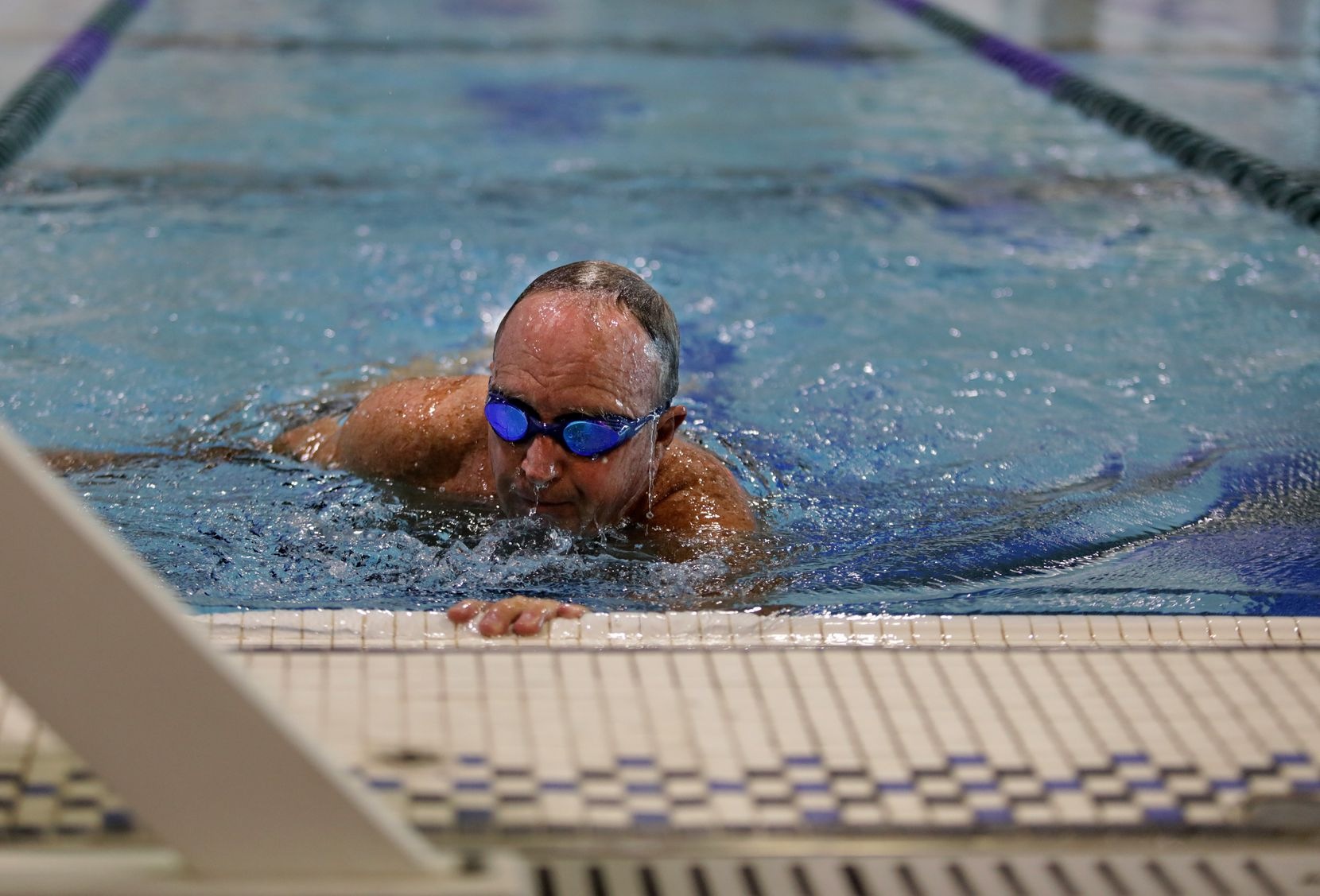 """Peter Goodspeed, 70, began swimming with a group, the Plano Wetcats, to improve his fitness. """"I found that on my own, it was difficult to maintain, but with a group, I kept it up,"""" he says."""