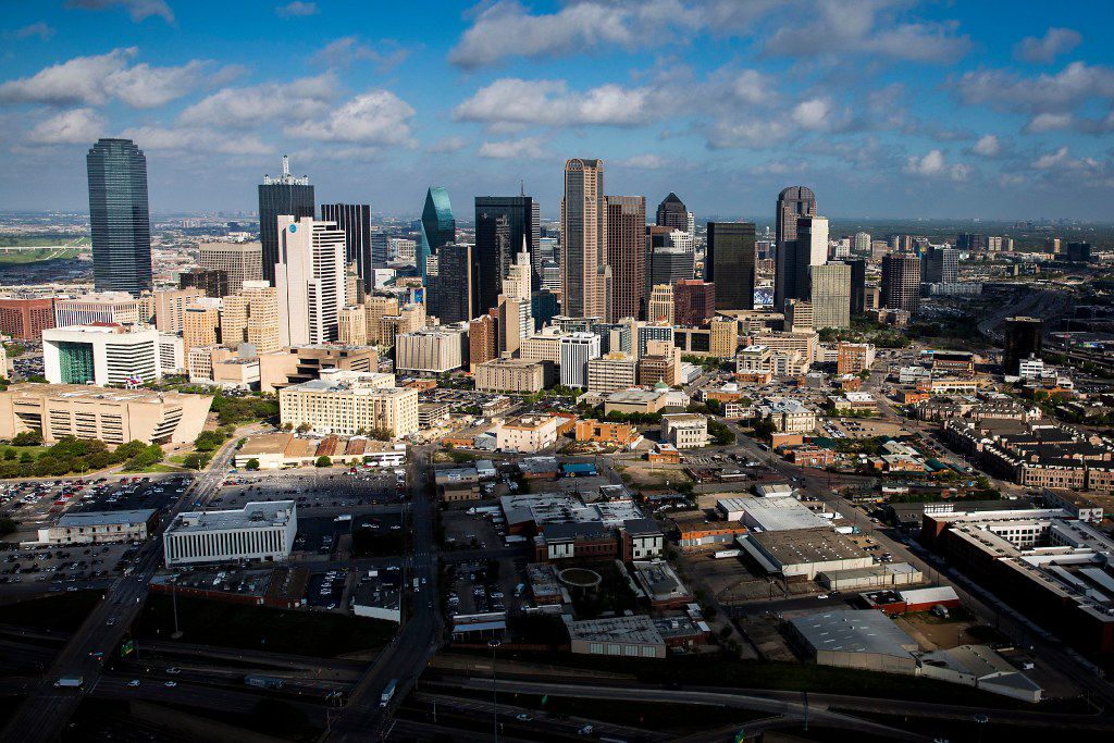 The downtown Dallas skyline photographed on Thursday, March 23, 2017, in Dallas, TX. (Smiley N. Pool/The Dallas Morning News)