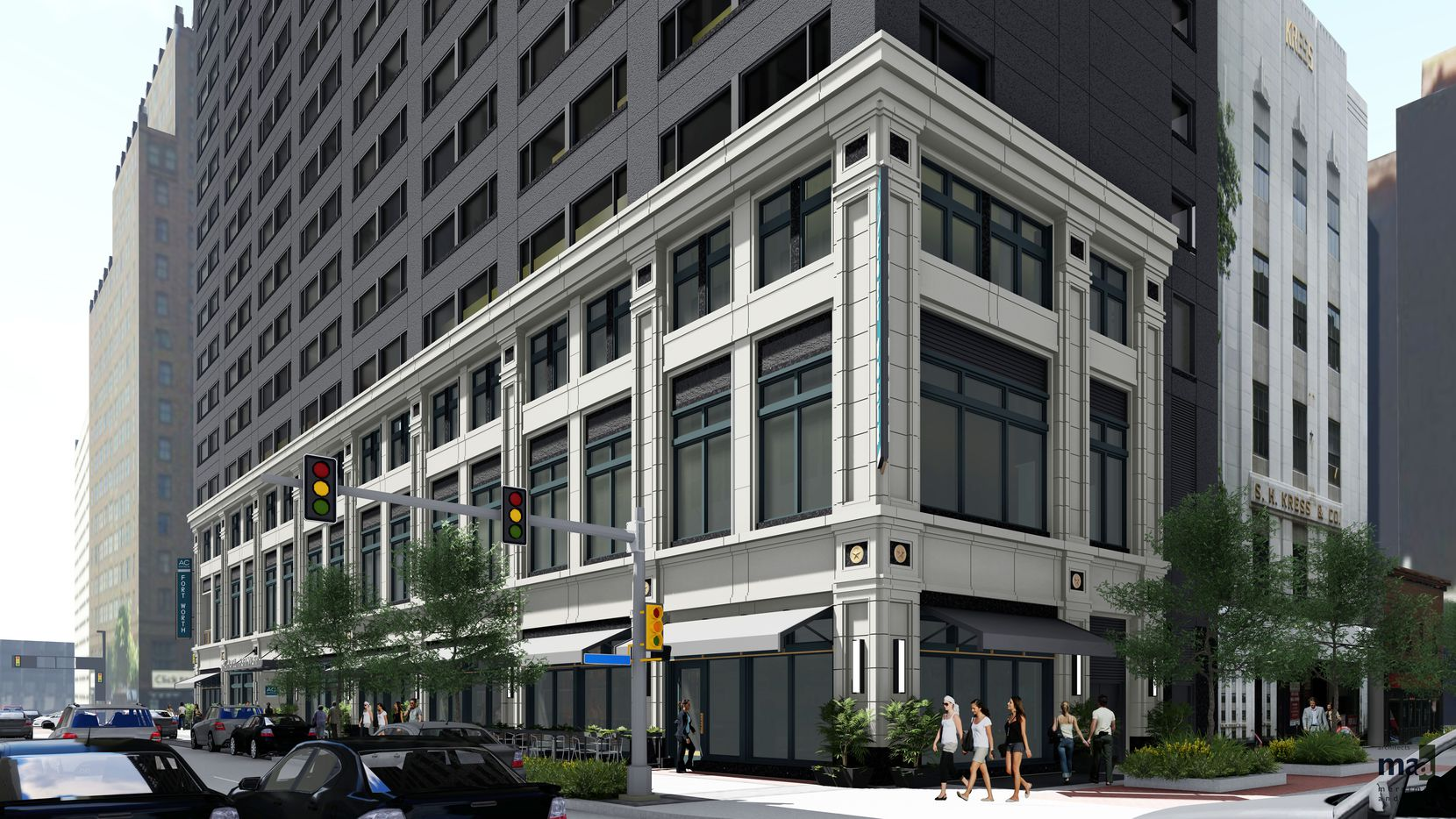 The AC Fort Worth Hotel is being built downtown on Main Street.