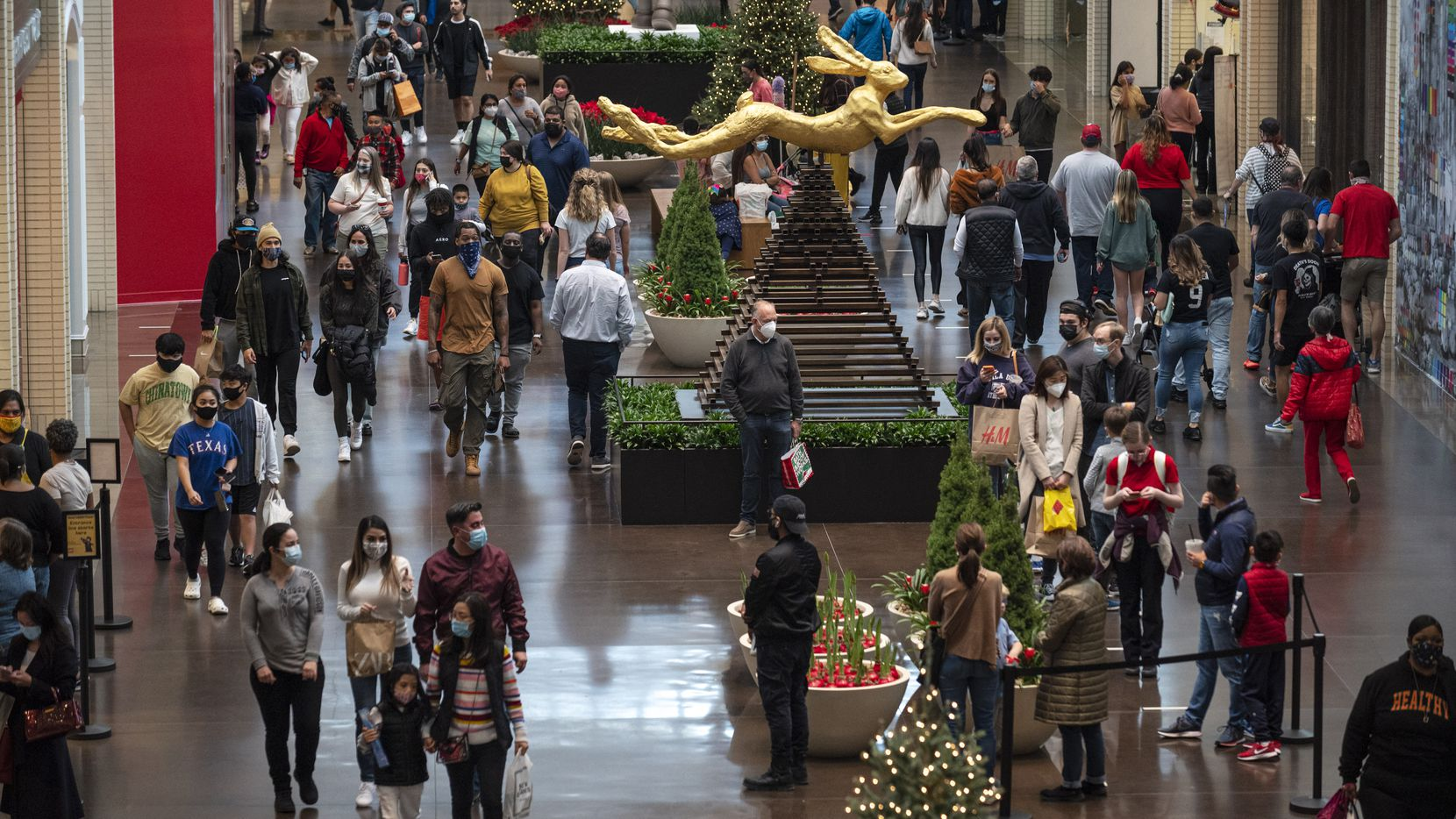 Black Friday shoppers at NorthPark Center in Dallas, on Friday, Nov. 27, 2020.