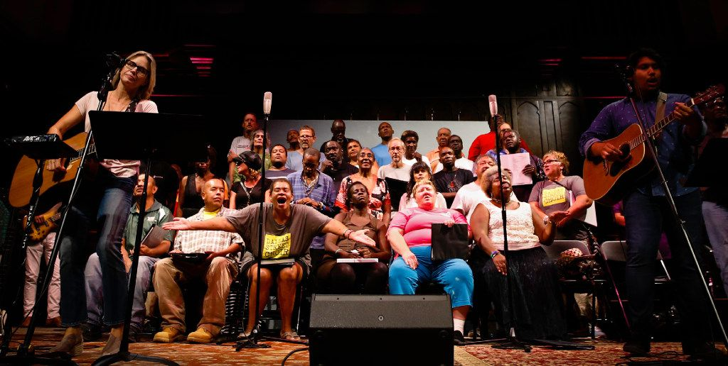 The Dallas Street Choir performs at the Munger Place Church in Dallas. It was their first public performance here since their East Coast tour. (Tailyr Irvine/The Dallas Morning News)