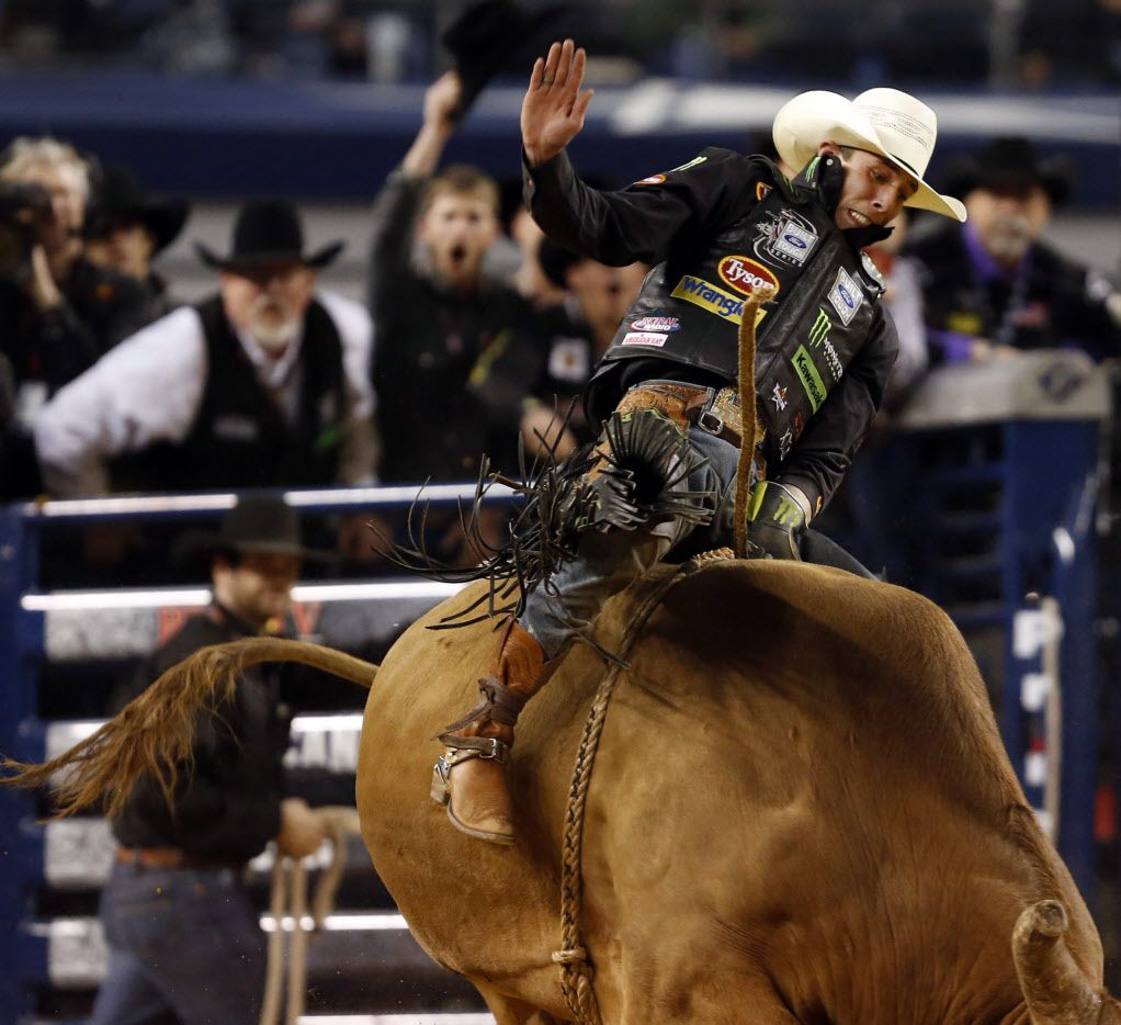 Two-time champion J.B. Mauney of Statesville, N.C., is one of the top competitors at this weekend's Professional Bull Riders Association World Finals at AT&T Stadium.