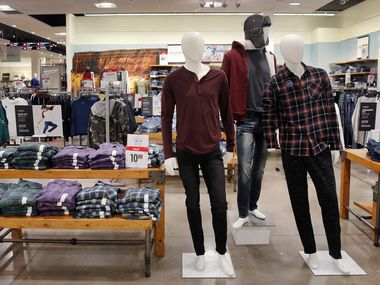 Men's Arizona brand clothing is on display inside the J.C. Penney at Timber Creek Crossing in Northeast Dallas, Thursday, January 16, 2020. (Tom Fox/The Dallas Morning News)