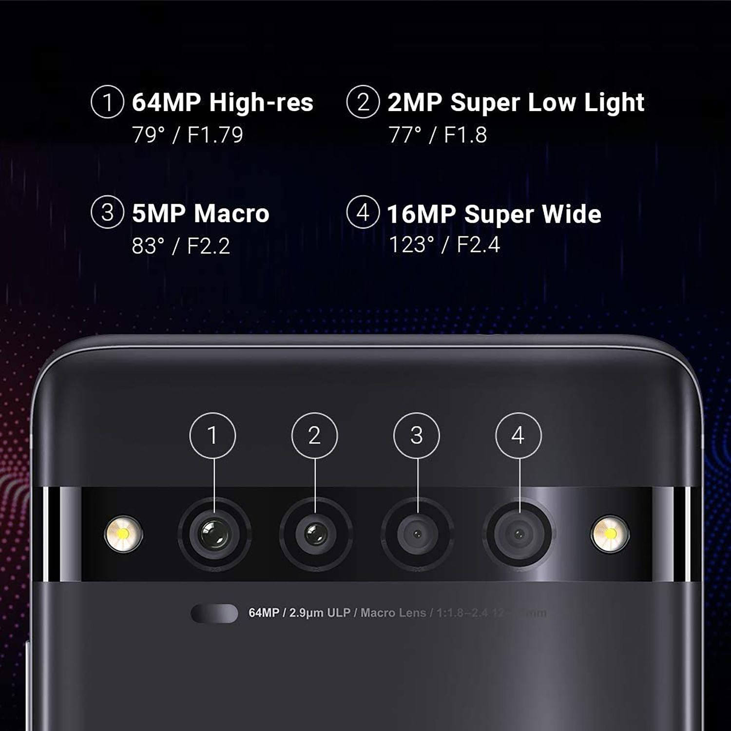 The cameras of the TCL 10 Pro