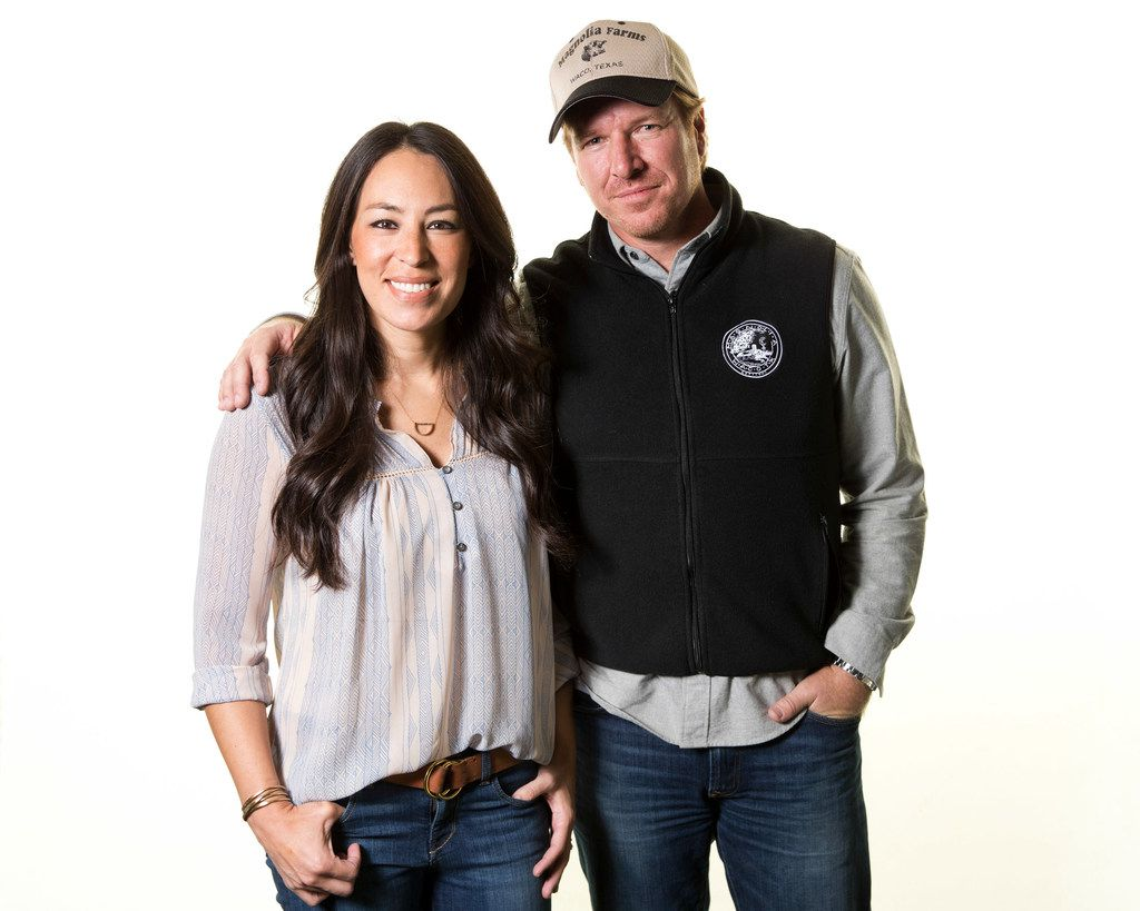 "FILE photo, Joanna and Chip Gaines pose for a portrait in New York to promote their home improvement show, ""Fixer Upper,"" on HGTV. The show ended last year after five seasons."