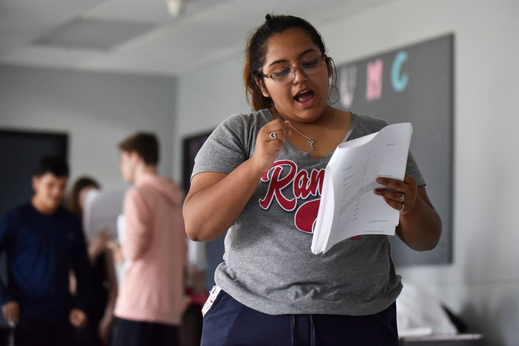 """""""You feel like you're more a part of it, you're more invested in it,"""" says Cicsy Rojas, 17, about the """"devised"""" style used by Cry Havoc Theater Company to create new plays, which are based on the teenage actors' own experiences."""