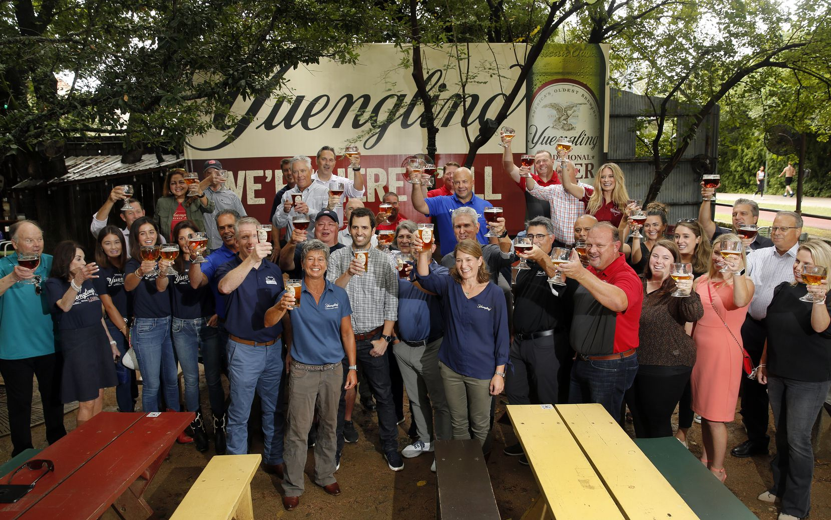 Yuengling, Molson Coors Beverage Company and Andrews Distributing employees gathered at Katy Trail Ice House in Dallas to celebrate the release of its beers in Texas. Its expansion into the Lone Star State is the biggest beer release we've seen in Texas in our lifetime, several industry people said.