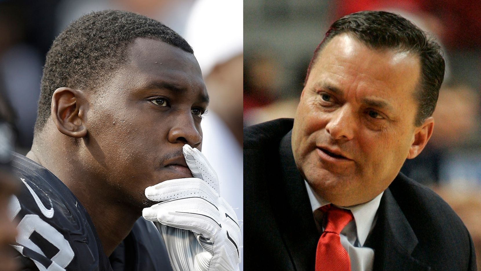 File photos: Aldon Smith (Left) and Billy Gillispie (Right)