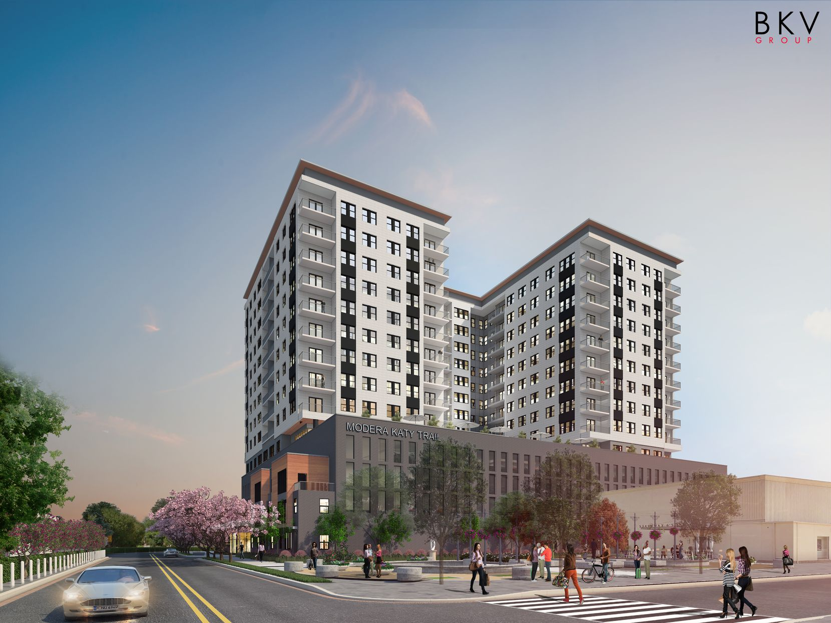 Mill Creek Residential is building its Modera Katy Trail apartment high-rise on U.S. Highway 75 near SMU.