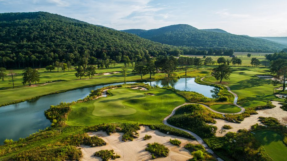 """Sweetens Cove Golf Club in Tennessee is described by investor Mark Rivers as a """"low-key"""" nine-hole course that once didn't have plumbing. """"We now have a functional bathroom,"""" Rivers says. """"It's not fancy at all, but it's functional."""""""