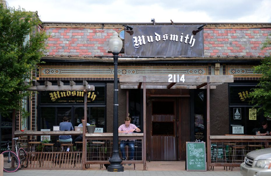 Mudsmith on Greenville Avenue in Dallas is a cozy, dark coffee shop popular among the work-from-home set.