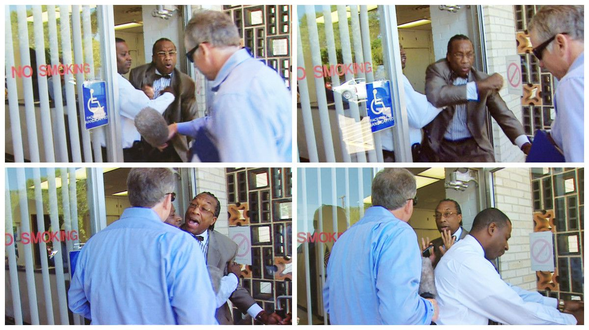 Brett Shipp and Dallas County Commissioner John Wiley Price had a physical run-in in 2011.