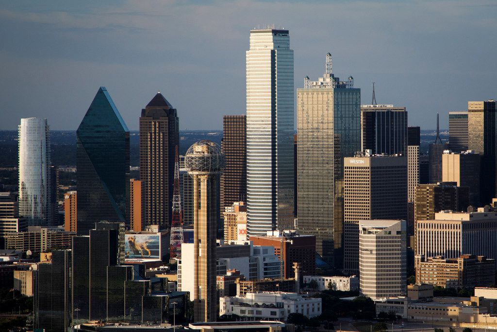 The downtown skyline photographed on Thursday, July 27, 2017, in Dallas. (Smiley N. Pool/The Dallas Morning News)