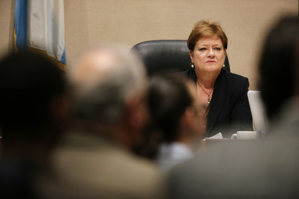 Dallas County commissioner Dr. Theresa Daniel, of district 1, listens during a Dallas County Commissioners Court meeting in the Dallas County Administration Building downtown Dallas Tuesday February 21, 2017. (Andy Jacobsohn/The Dallas Morning News)