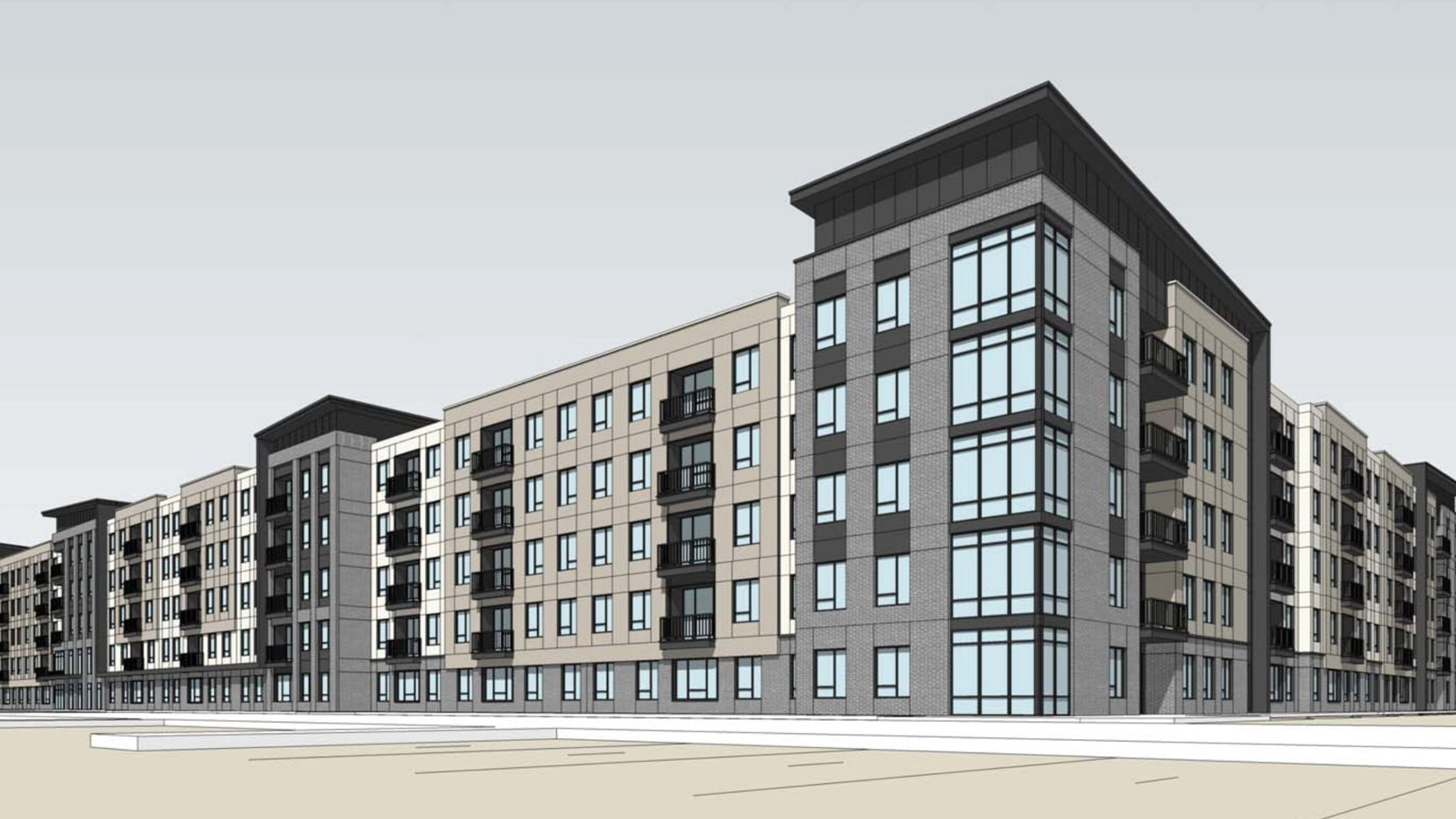 AltaTerra Real Estate wants to build a five-story student housing building on the south side of Bush Turnpike.