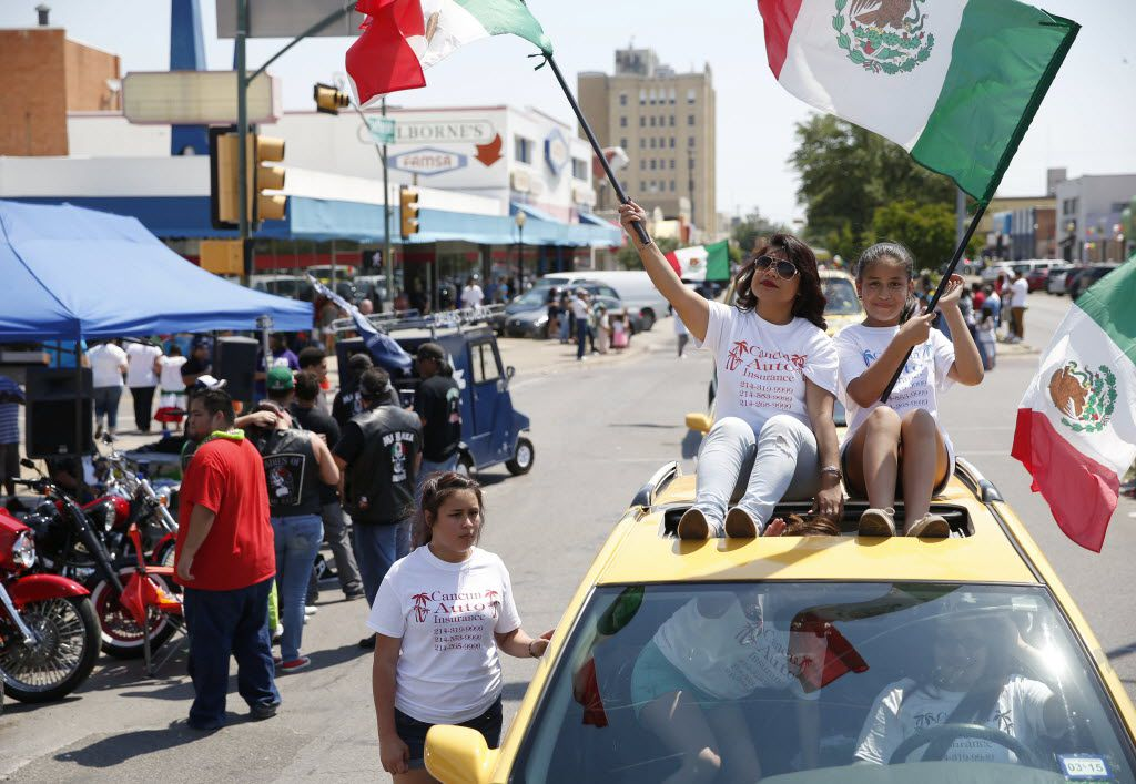 The Cinco de Mayo festival and parade on West Jefferson Boulevard in Dallas is a favorite local event.