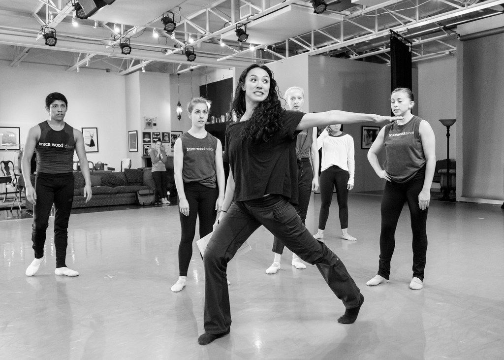 Artistic adviser Kimi Nikaidoh, who appeared in the original 2001 production, teaches Local 126 to members of Bruce Wood Dance.