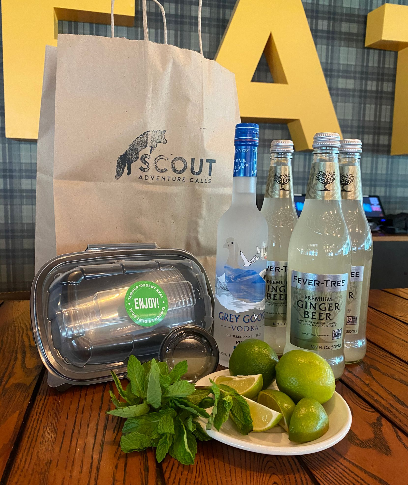 Scout at the Statler is offering cocktail kits for Moscow Mules, martinis, margaritas and more.
