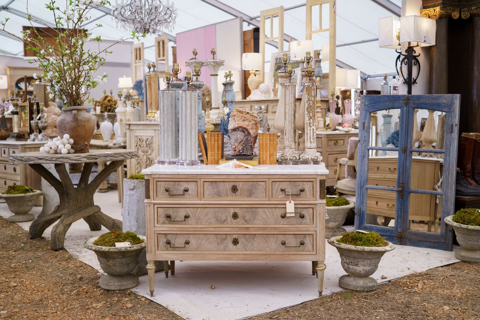 The Marburger Farm Antique Show features nearly 300 dealers from around the country.