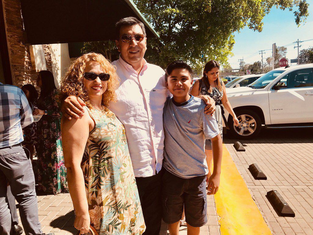 Nora Judith Gonzalez, 49, her husband Alejandro Fuentes Cervantes, 52 and their son Karol Alejandro, 11, live in Leon, Guanajuato and represent Mexico's middle class. The couple is considering voting for left-leaning presidential candidate Andres Manuel Lopez Obrador.