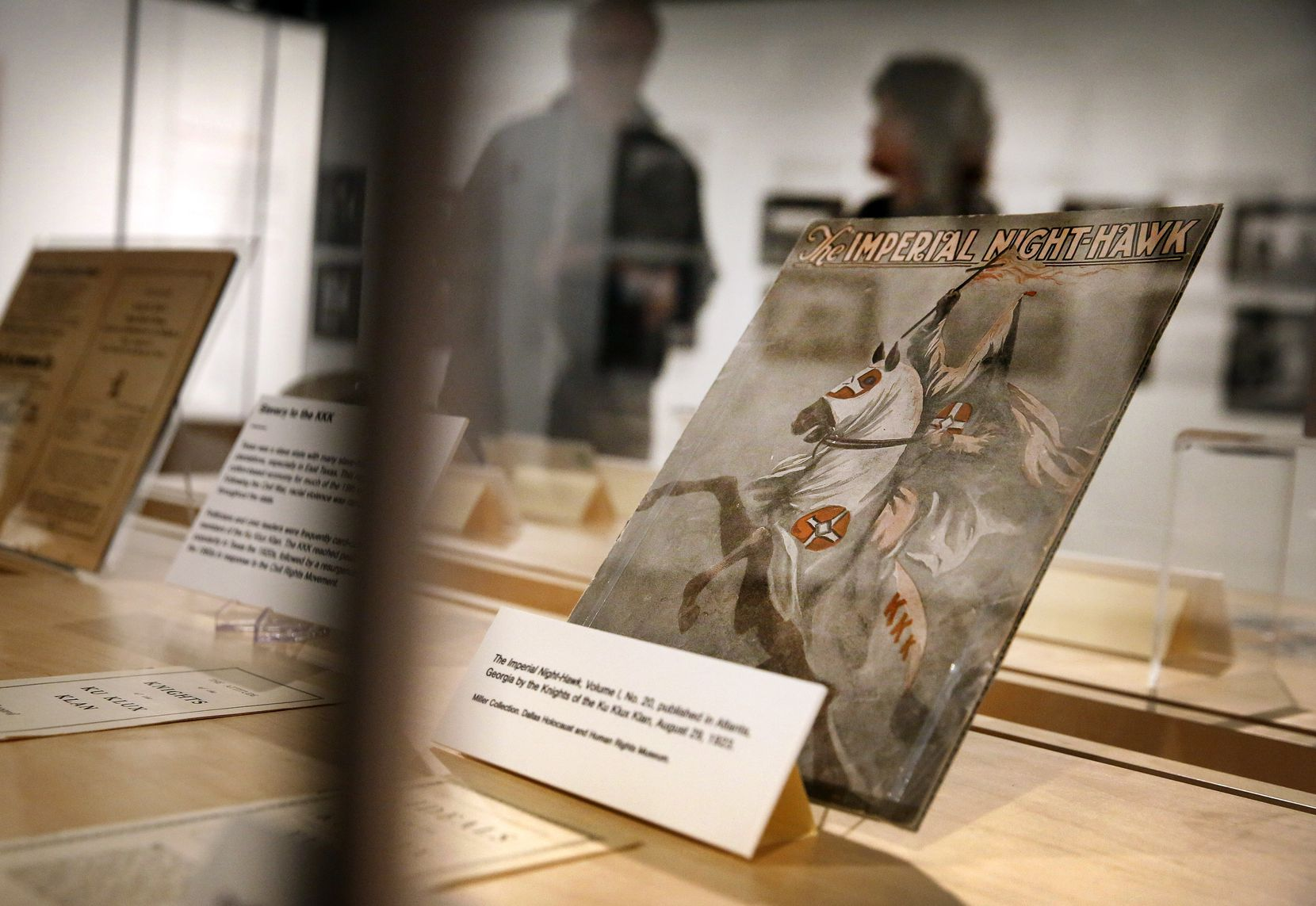 """Sid Miller, 82, donated Ku Klux Klan artifacts to the """"The Fight For Civil Rights In The South"""" exhibit at the Dallas Holocaust Museum and Human Rights Museum  This is """"The Imperial Night-Hawk,"""" published in Atlanta by the Knights of the Ku Klux Klan, August 29, 1923."""