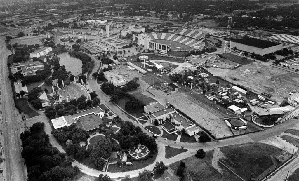 This image shows Fair Park as it looked from the sky on July 4, 1982. (File Photo/Staff)