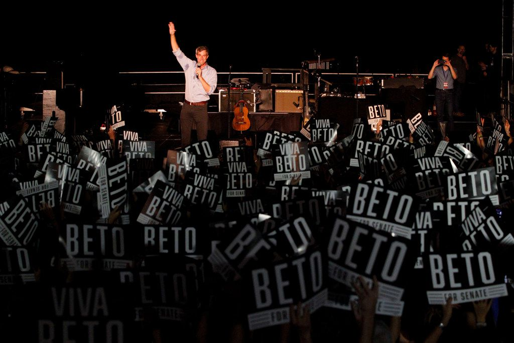 Senate candidate Beto O'Rourke spoke at a rally in Austin on Sept.  29.