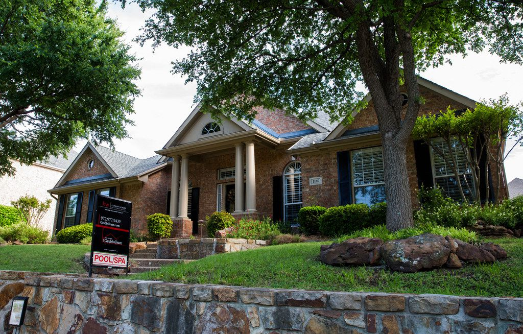 The market value for homes is driving a lot of the increase in preliminary appraisal values out this month for Collin, Denton and Rockwall counties. This house is for sale on Lakehill Boulevard in Frisco.