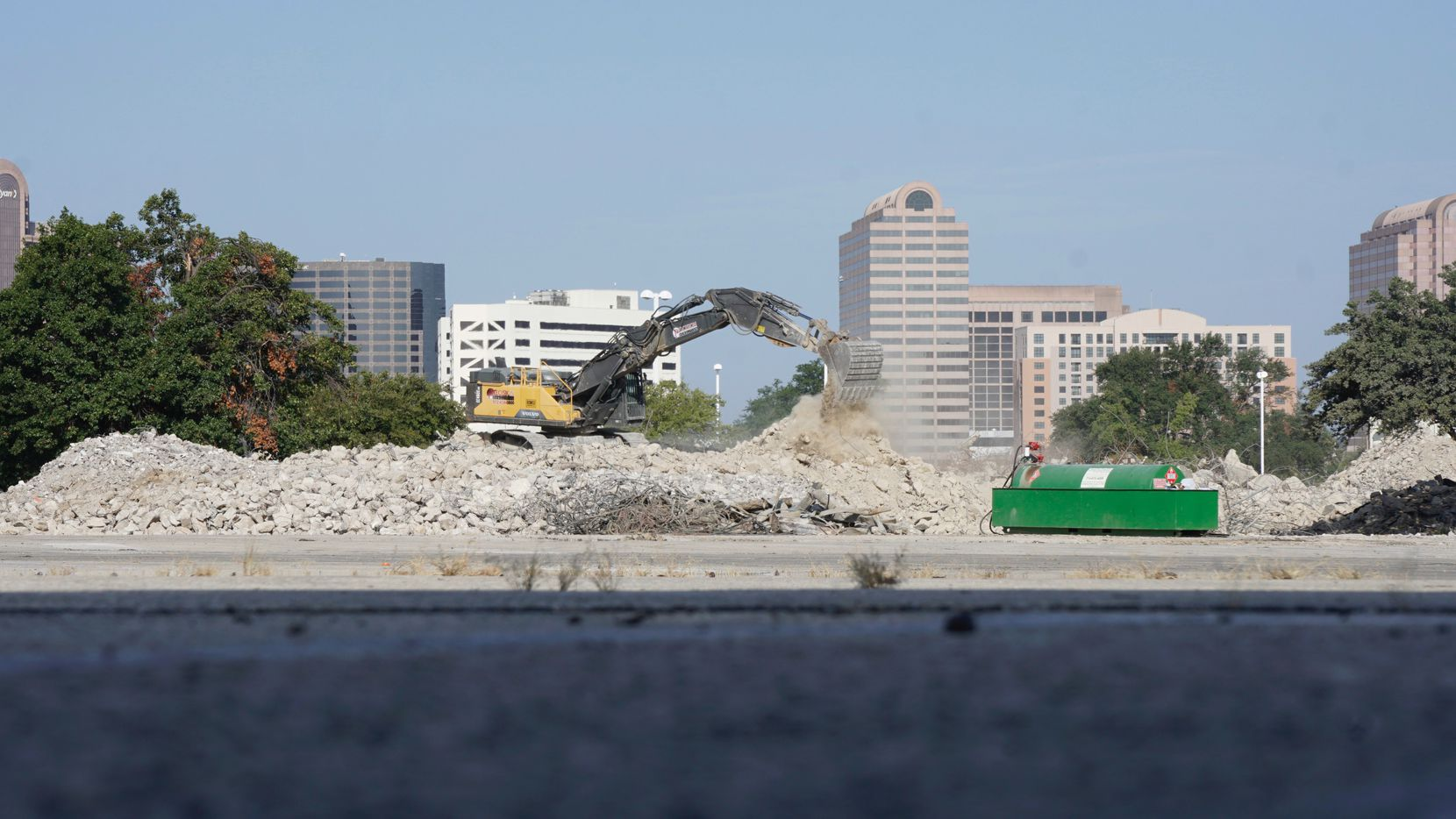 Work crews wrap up the demolition of Valley View Mall in Dallas.