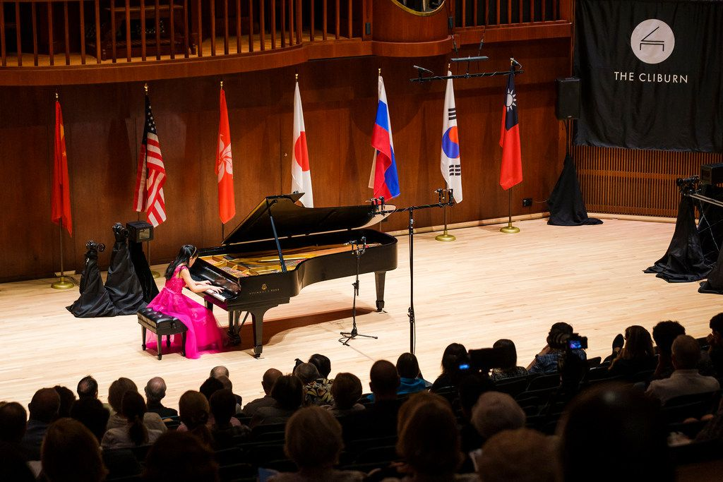Naomi Yamaguchi performs during the quarterfinals of the Cliburn Junior International Piano Competition at SMU's Caruth Auditorium on Monday, June 3, 2019, in Dallas.