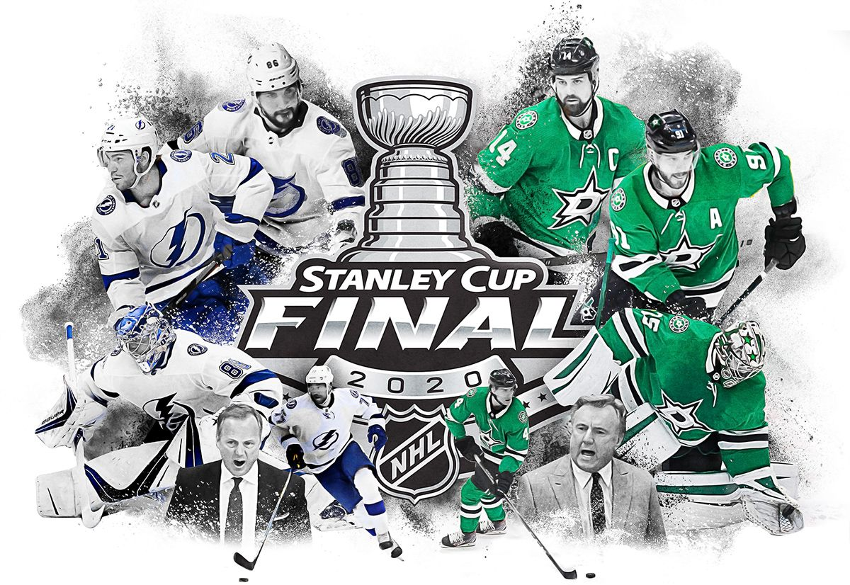 The Dallas Stars and the Tampa Bay Lightning will meet in the 2020 Stanley Cup Final (illustration by Michael Hogue).