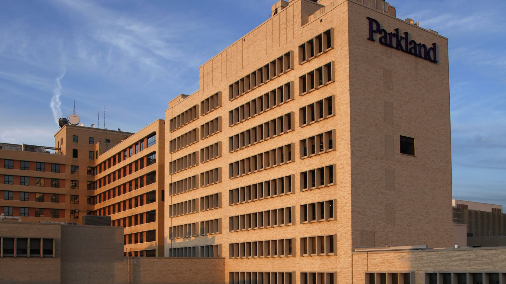 The old Parkland Hospital buildings have been empty for more than a year and are for sale.