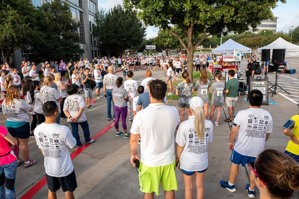 Runners at the Frisco Arts Walk & Run 2018.