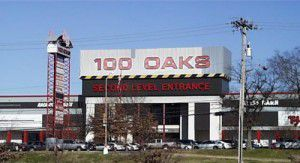 A before photo of the exterior of One Hundred Oaks mall in Nashville.