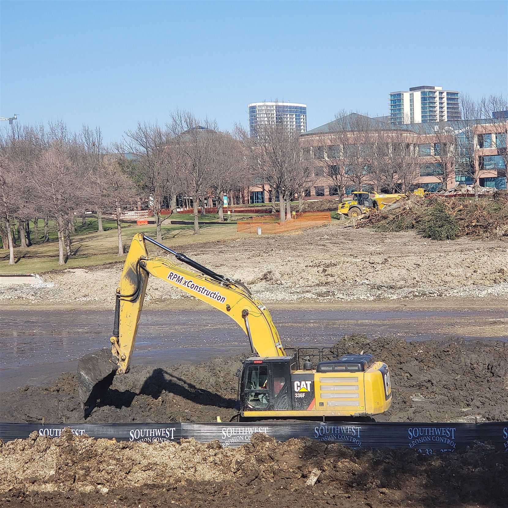 Sitework has started on the lakeshore for the new hotel.