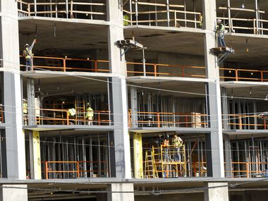 The Dallas area added 3,700 building sector jobs during the 12 months ending in November.