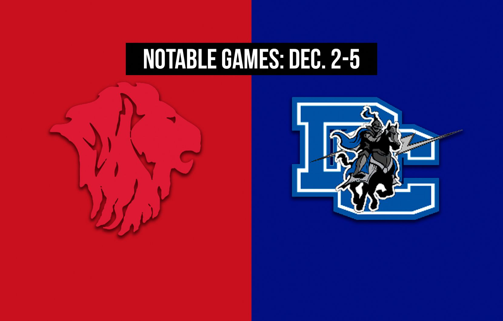 Notable games for the week of Dec. 2-5 of the 2020 season: Grapevine Faith vs. Dallas Christian.
