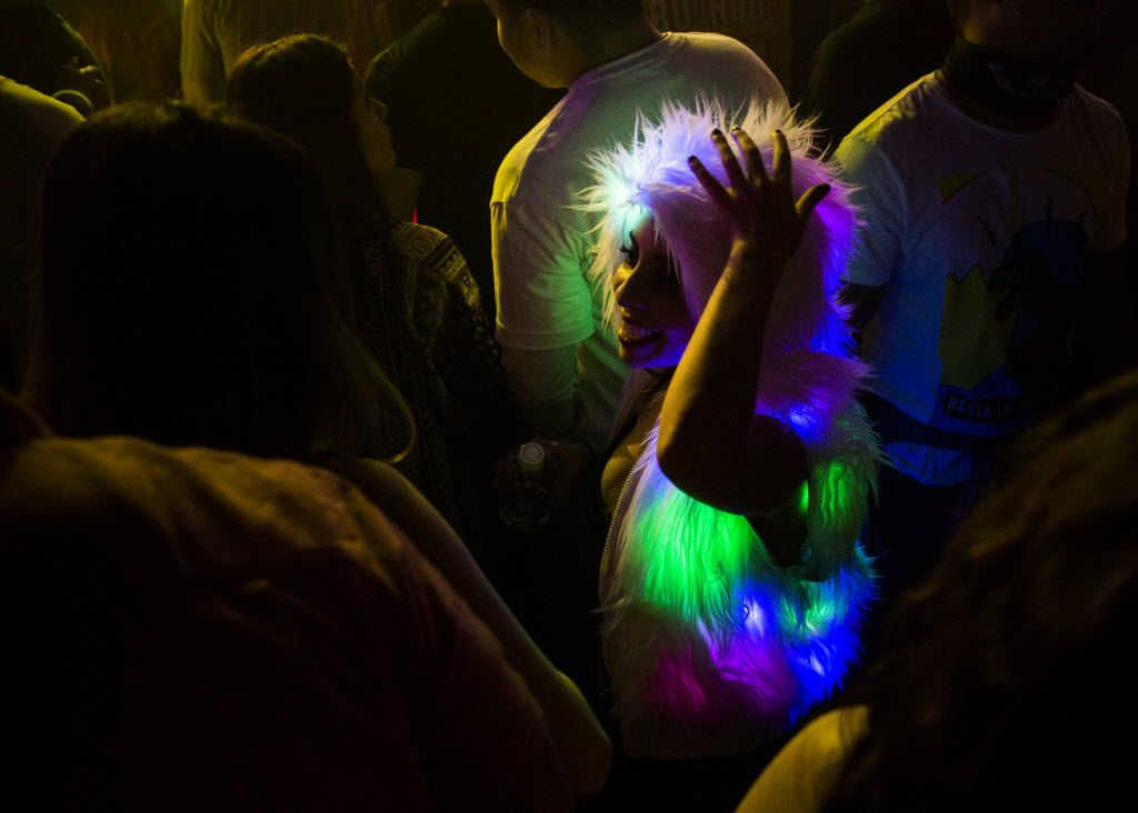 The Lights All Night New Year's Eve party on Thursday, December 31, 2015 at Dallas Market Hall in Dallas.