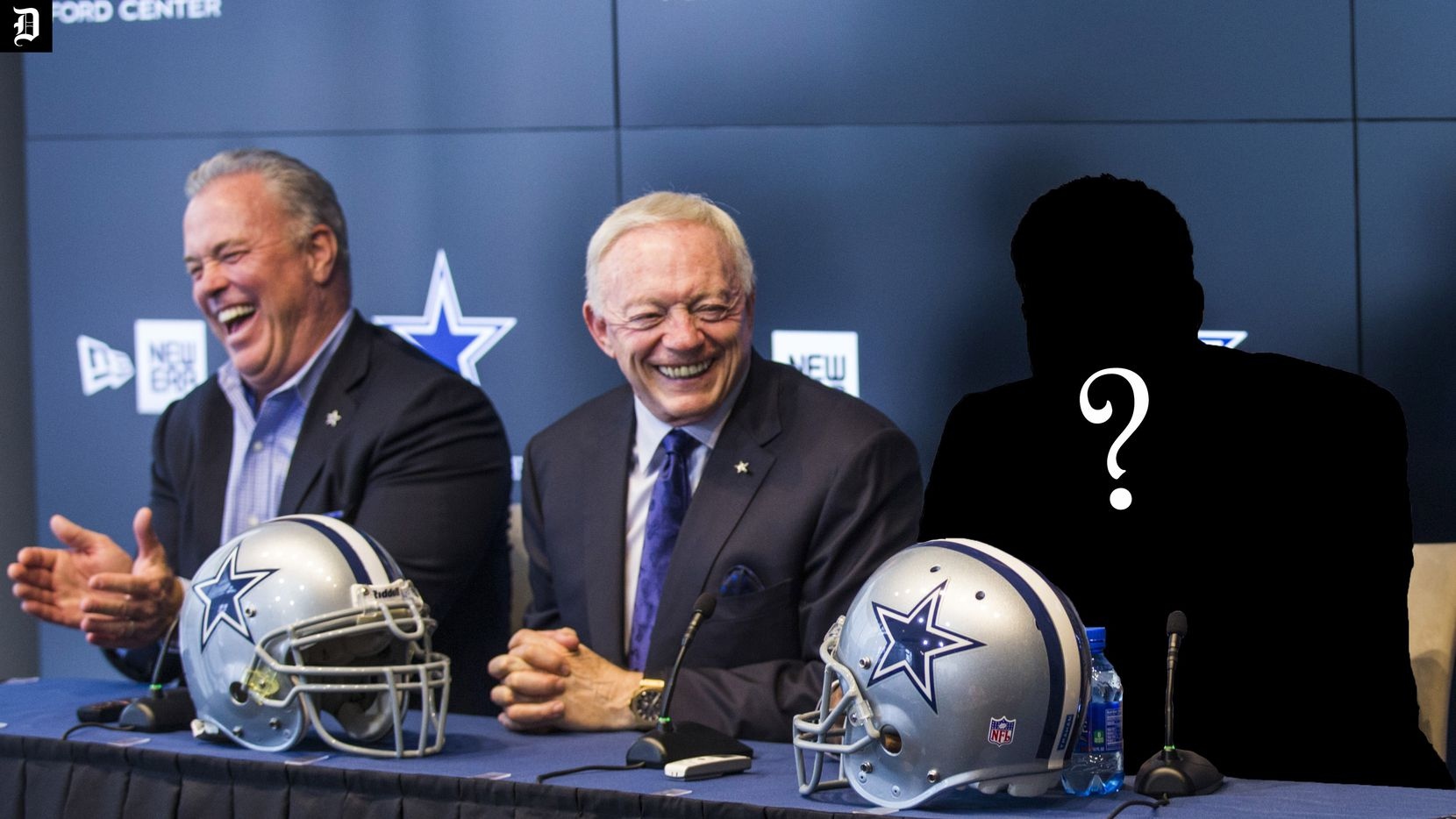 A Dallas Cowboys draft pick introduced in a press conference with Cowboys Executive Vice President and CEO Stephen Jones and owner Jerry Jones at The Star in Frisco, Texas.