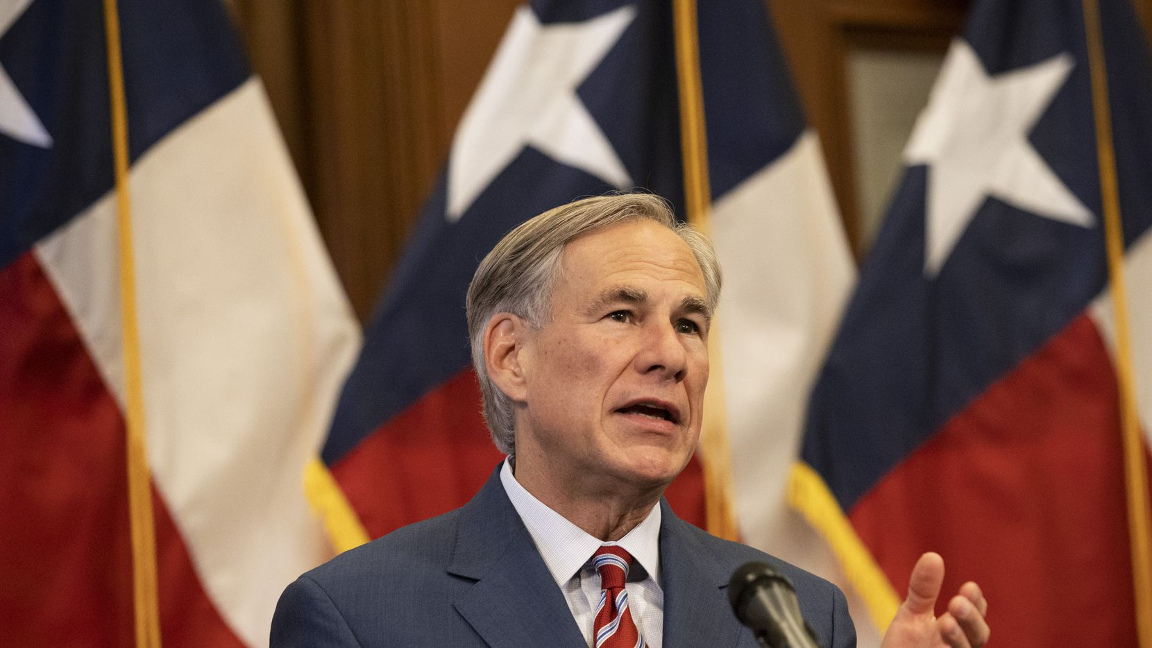 Gov. Greg Abbott announced a further reopening of more Texas businesses Wednesday, easing restrictions he imposed earlier in an effort to contain COVID-19.