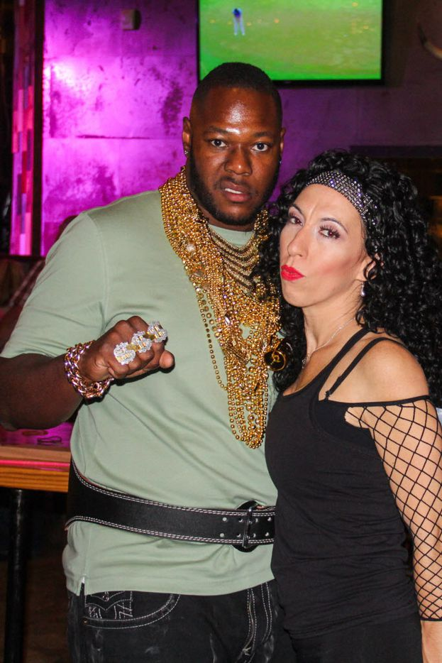 Larry and Kelly Pink attended the #TBT to the '80s party on Thursday at the Rustic.